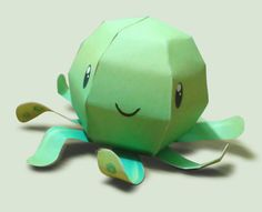 You will need only one sheet of paper  to build your own Octopi,  the Cute Green Octopus paper toy , created by Argentinian designer KNA. ...