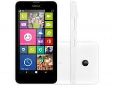 "Smartphone Nokia Lumia 630 Dual Chip 3G Câm. 5MP - Windows Phone Tela 4.5"" Proc. Quad Core Tv Digital"