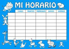 Horario escolar vuelta al cole  http://www.edufichas.com/blog/horario-escolar-para-imprimir/