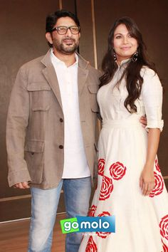 Arshad Warsi & Maria Goretti at the Launch of Maria Goretti's book in New Delhi