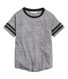 T-shirt   Gråmelerad   Dam   H&M SE