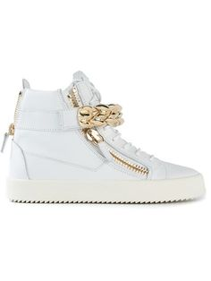 Shop Giuseppe Zanotti Design chain detail hi-top sneakers in Spazio Pritelli from the world's best independent boutiques at farfetch.com. Over 1000 designers from 300 boutiques in one website.