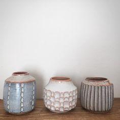 "354 Likes, 11 Comments - malinda reich (@malindareich) on Instagram: ""Different clay bodies, glazes, patterns and shapes, still friends. #stoneware #keramik #ceramics…"""