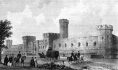 Eastern State Penitentiary 1800s | Eastern Penitentiary, Philadelphia, 1830s. Engraving with watercolor ...