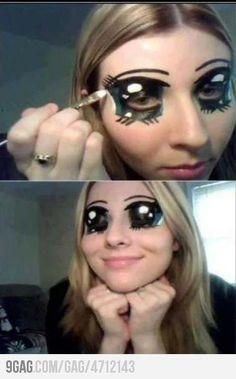 hilarious anime eye make up