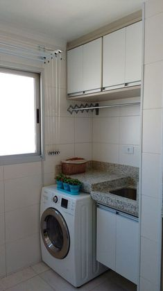 25 Brilliant Laundry Room Ideas for Small Spaces - Practical & Efficient Outdoor Laundry Rooms, Small Laundry Rooms, Laundry Room Organization, Laundry Closet, Kitchen Room Design, Home Decor Kitchen, Small Apartments, Small Spaces, Hobby Design