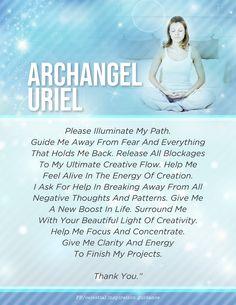 Spiritual Manifestation, Spiritual Prayers, Prayers For Healing, Spiritual Guidance, Archangel Uriel Prayer, Archangel Prayers, Archangel Raphael, Novenas Catholic, Arch Angels