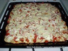kenyerlangos-2_600x451 Hawaiian Pizza, Lasagna, Bread, Cooking, Ethnic Recipes, Food, Farmer, Drinks, Oven