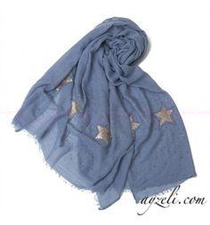 Yıldızlı Şal - Mavi