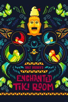 Enchanted Tiki Room - Disney wallpaper; use in pocket scrapbook