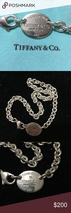 Return to Tiffany Necklace Rerun to Tiffany Necklace - its authentic, silver and well loved. Hope you love it as much as I did! Tiffany & Co. Jewelry Necklaces