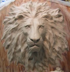 Lion of Judah (2009) Lion relief sculpted for The Packinghouse VBS by artist: Gilbert Lozano, Art Director at Universal Studios Hollywood