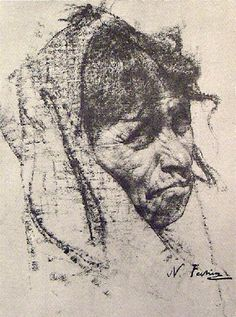 'Taos Indian', by Nicolai Fechin.  (1881-1955)