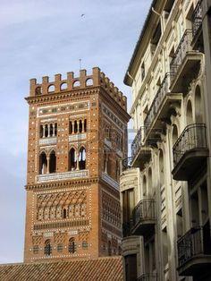 El Salvador mudejar tower,Teruel city, Spain