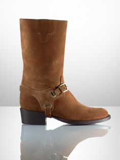 Isaline Equestrian Suede Boot - Ralph Lauren Collection Collection Shoes - RalphLauren.com