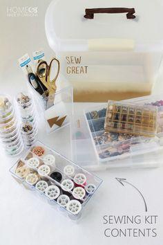 IHeart Organizing: UHeart Organizing: DIY Sewing Kit