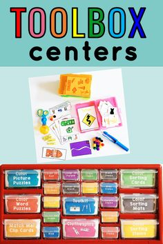Turn your teacher toolbox into a Fine Motor Center! Hands-on tasks and student materials are available in one organized space.