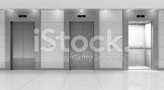 Modern Elevator Hall Interior royalty-free stock photo