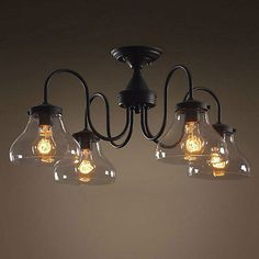 Three Wrought Iron Hanging Pendant Light Fixtures Lighting - Wrought iron pendant lighting kitchen