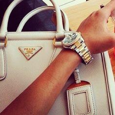 Rolex and prada