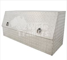 Opening toolbox built tough with aluminium checker plate. Contact us today! Toolbox, Plates, Home Decor, Tool Box, Licence Plates, Dopp Kit, Dishes, Decoration Home, Room Decor
