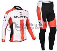 KUOTA 2013 long sleeve cycling jersey pants bicycle bike sports MTB racing autumn clothes set Ropa Ciclismo K2013001 #Affiliate