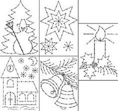 Borduurkaarten - Kerstmis