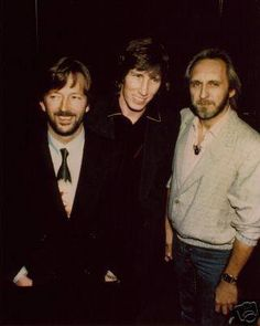 Eric Clapton, Roger Waters (Pink Floyd) and John Entwistle (The Who)