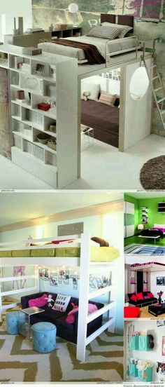 20 Cool Ideas For Decorating a Bedroom Your Kids Will Love | cuartos ...