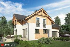 Projekty domów - Projekt domu z poddaszem JUPITER VI BIS - wizualizacja 1