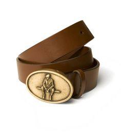 Paul Stuart Logo Buckle Belt