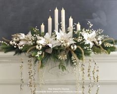 How to make a Christmas garland for your mantel or table - My Christmas BlogMy Christmas Blog