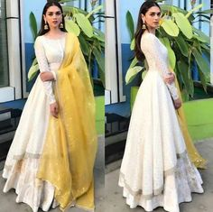 for this Tailer fit designer wear Indian Gowns, Indian Attire, Indian Ethnic Wear, Ethnic Style, Indian Wedding Outfits, Pakistani Outfits, Indian Outfits, Indian Clothes, Dress Indian Style