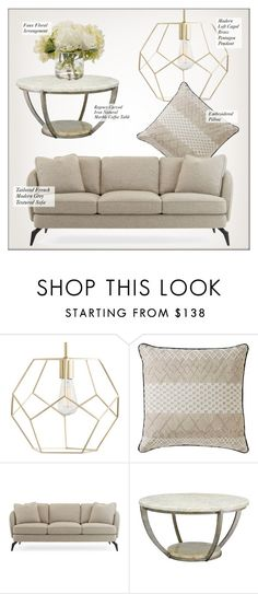 """""""Living Room Decor"""" by kathykuohome ❤ liked on Polyvore featuring interior, interiors, interior design, home, home decor, interior decorating, Naven, living room, modern and Home"""