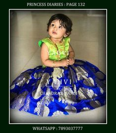 Girls Frock Design, Kids Frocks Design, Baby Frocks Designs, Baby Dress Design, Mom And Baby Dresses, Baby Girl Dress Patterns, Dresses Kids Girl, Kids Outfits, Kids Indian Wear