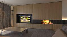item Fireplace Tv Wall, Fireplace Design, Living Room Tv, Living Room With Fireplace, Tv Wall Design, House Design, Tv Wall Cabinets, Muebles Living, Minimalist Apartment