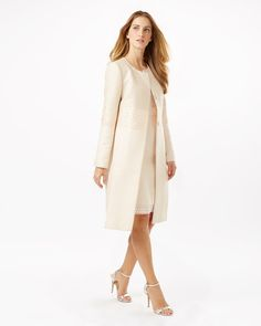 Light Blue Shift Dress and Matching Coat Spring Wedding Outfit ...