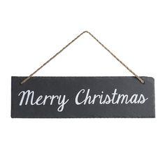 Wilko Industrial Slate Merry Xmas Sign