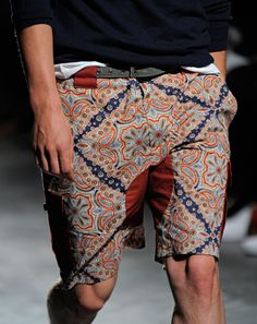 Moroccan inspired men's shorts for your sassier days.