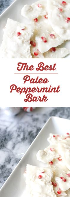 Paleo Peppermint Bark - the perfect easy paleo Christmas treat Paleo Dessert, Paleo Sweets, Dinner Dessert, Dessert Bars, Holiday Treats, Holiday Recipes, Christmas Treats, Holiday Foods, Christmas Music
