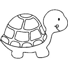 Turtle outline. USE!! found on Polyvore