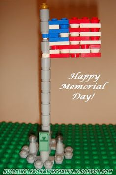 LEGO American Flag Creation, Memorial Day