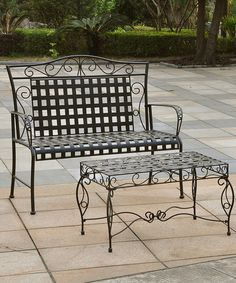 Another great find on #zulily! Mandalay Three-Piece Iron Patio Set #zulilyfinds