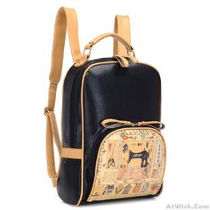 Wow~ Awesome Fresh Graffiti Printing British Style School Backpack! It only $41.9 at www.AtWish.com! I like it so much<3<3!