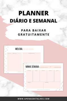 Planner Diario, Social Media, Organization, Download, Lettering, How To Plan, Planners, Scrap, Diy