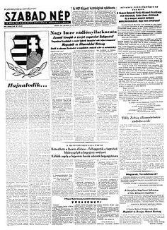 A Szabad Nép az forradalomban – Wikipédia