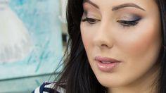 Neutral Makeup with Pop of Blue |  Makeup Geek