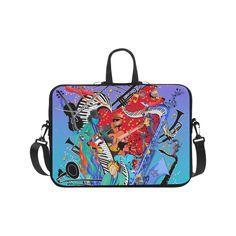 "Print Laptop Case Cool Jazzy Blues Music Art Laptop Handbags 17"".Print Laptop Case Cool Jazzy Blues Music Art by Juleez"