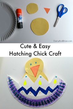 Looking for easy crafts for preschoolers? This Hatching Chick craft activity is perfect for spring and uses simple materials. It is easy to modify for a toddler craft activity too.