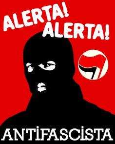 alerta, alerta! Antifascista! Pop art, poster art, illustration.